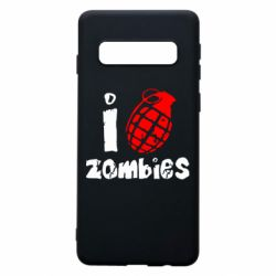 Чехол для Samsung S10 I love zombies