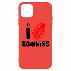 Чехол для iPhone 11 Pro Max I love zombies
