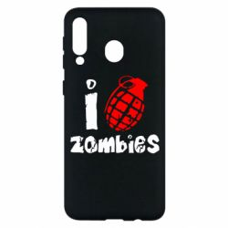 Чехол для Samsung M30 I love zombies
