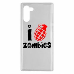 Чехол для Samsung Note 10 I love zombies