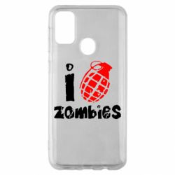 Чехол для Samsung M30s I love zombies