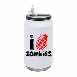 Термобанка 350ml I love zombies
