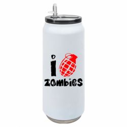 Термобанка 500ml I love zombies