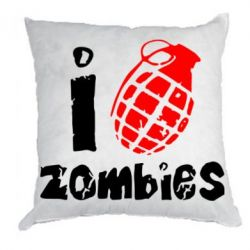 Подушка I love zombies - FatLine