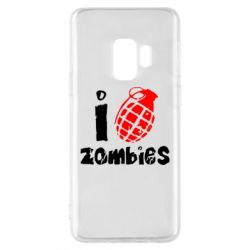 Чехол для Samsung S9 I love zombies