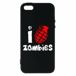 Чехол для iPhone5/5S/SE I love zombies