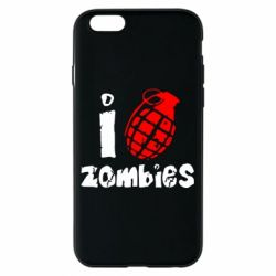 Чехол для iPhone 6/6S I love zombies