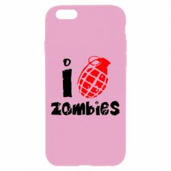 Чехол для iPhone 6 Plus/6S Plus I love zombies