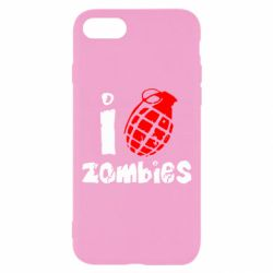 Чехол для iPhone 7 I love zombies