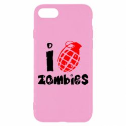 Чехол для iPhone 8 I love zombies