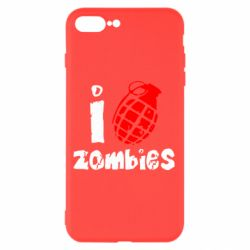 Чехол для iPhone 8 Plus I love zombies