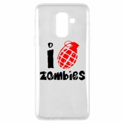 Чехол для Samsung A6+ 2018 I love zombies