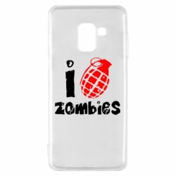 Чехол для Samsung A8 2018 I love zombies