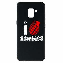 Чехол для Samsung A8+ 2018 I love zombies