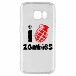 Чехол для Samsung S7 I love zombies