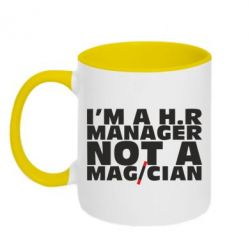 Кружка двухцветная 320ml I'm a h.r. manager not a magician