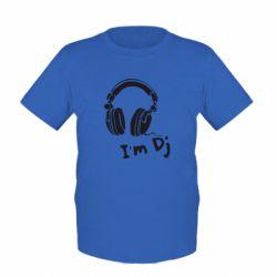 Детская футболка I'm DJ