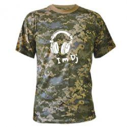 Камуфляжная футболка I'm DJ