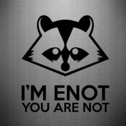 Наклейка I'm ENOT - FatLine