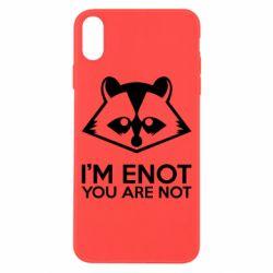 Чехол для iPhone X/Xs I'm ENOT