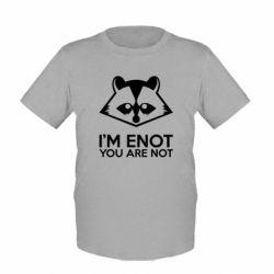 Детская футболка I'm ENOT - FatLine