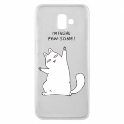 Чехол для Samsung J6 Plus 2018 I'm feline paw some