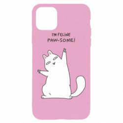 Чехол для iPhone 11 Pro Max I'm feline paw some