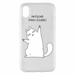 Чехол для iPhone X/Xs I'm feline paw some