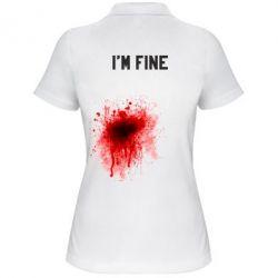 Женская футболка поло I'm fine - FatLine