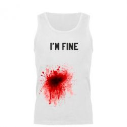 Мужская майка I'm fine - FatLine
