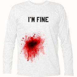 Футболка с длинным рукавом I'm fine - FatLine