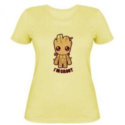 Женская футболка I'm groot