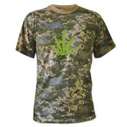 Камуфляжная футболка I'm lovin it!