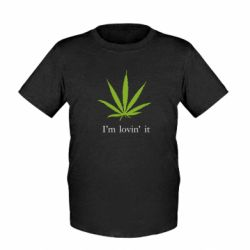 Детская футболка I'm lovin it!