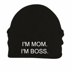 Шапка на флісі I'm mom. i'm boss.