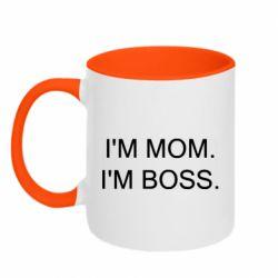 Кружка двоколірна 320ml I'm mom. i'm boss.