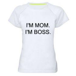 Жіноча спортивна футболка I'm mom. i'm boss.