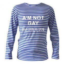 Тельняшка с длинным рукавом I'm not gay, but 20$ is 20$
