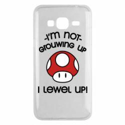 Чехол для Samsung J3 2016 I'm not growing up, i level up