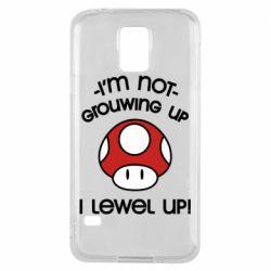 Чехол для Samsung S5 I'm not growing up, i level up