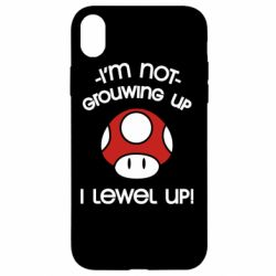 Чехол для iPhone XR I'm not growing up, i level up