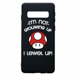 Чехол для Samsung S10 I'm not growing up, i level up