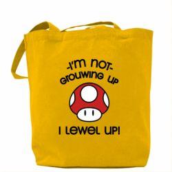 Сумка I'm not growing up, i level up