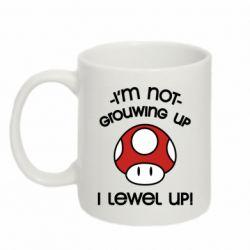 Кружка 320ml I'm not growing up, i level up