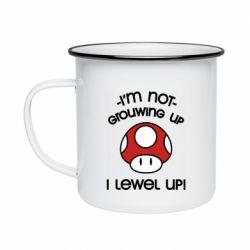 Кружка эмалированная I'm not growing up, i level up