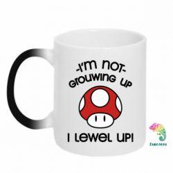 Кружка-хамелеон I'm not growing up, i level up