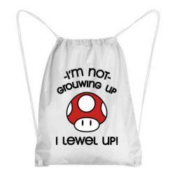 Рюкзак-мешок I'm not growing up, i level up