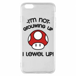 Чехол для iPhone 6 Plus/6S Plus I'm not growing up, i level up