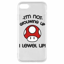 Чехол для iPhone 7 I'm not growing up, i level up