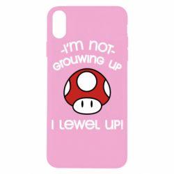 Чехол для iPhone X/Xs I'm not growing up, i level up